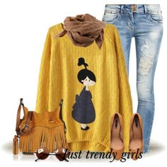 cute girly sweater outfit
