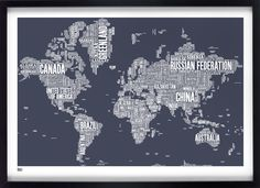 Bold & Noble create beautiful prints, and this is my favourite - I WILL have one in my room of maps and globes!