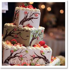 I love the idea of this. Mainly the fruit. Something I want for my cake.