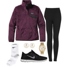 """""""QOTD:What is your favorite color Patagonia pullover?"""" by preppy13 on Polyvore"""