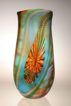 Murano Art Glass Vase by Gianluca Vidal