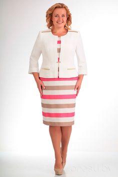 Комплект плательный СлавияЭлит 243 молочный+розовый
