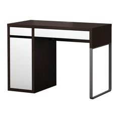 $89 MICKE Desk IKEA Cable outlets and compartment in the back keeps cords and cables out of sight but close at hand.