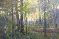 """Richard Oversmith, """"Rock Wall in the Spring Woods"""" 24x36"""