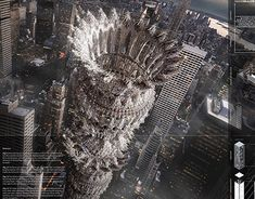 Image 4 of 32 from gallery of eVolo Announces 2017 Skyscraper Competition Winners. First Place: Mashambas Skyscraper / Pawel Lipiński, Mateusz Frankowski. Image Courtesy of eVolo Stairs Architecture, Architecture Images, Industrial Architecture, Architecture Magazines, Chinese Architecture, Commercial Architecture, Futuristic Architecture, Residential Architecture, Contemporary Architecture