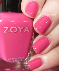 Brynn is a medium pink creme. This is nice and saturated so its bright but still a somewhat dark pink.