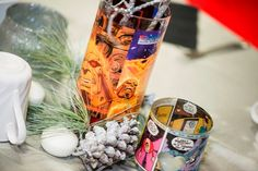 Comic Book Vase and Votive Wedding Centerpieces by GildedOwl