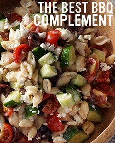This fresh, bright, and colourful Greek Pasta Salad is easy to prepare and the perfect side for Victoria Day. Pasta Side Dishes, Pasta Sides, Main Dishes, Greek Salad Pasta, Best Bbq, Fresh Mint, Roasted Vegetables, Cherry Tomatoes, Salad Recipes