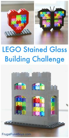 Glass LEGO Building Challenge Stained Glass LEGO Building Challenge - create sun catchers out of LEGO bricks! Unique building idea for kids.Stained Glass LEGO Building Challenge - create sun catchers out of LEGO bricks! Unique building idea for kids. Legos, Lego Lego, Pokemon Lego, Construction Lego, Lego Challenge, Lego Club, Lego Craft, Lego For Kids, Kids Fun