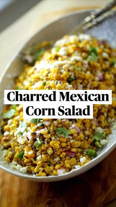 Mexican Corn Salad, Easy Mexican Rice, Easy Mexican Food Recipes, Easy Corn Recipes, Canned Corn Recipes, Mexican Style Corn, Easy Mexican Casserole, Vegetarian Mexican Recipes, Authentic Mexican Recipes
