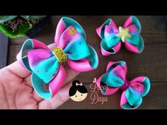 Diy Bow, Diy Hair Bows, Diy Ribbon, Ribbon Bows, Hair Forum, Baby Hair Accessories, Boutique Hair Bows, Diy Headband, How To Make Bows