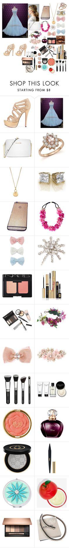 """Bridesmaid♥♥♥♥"" by fashion-dora15 ❤ liked on Polyvore featuring Michael Kors, Bloomingdale's, Aurélie Bidermann, Decree, Jennifer Behr, NARS Cosmetics, Yves Saint Laurent, Borghese, Rock 'N Rose and Monsoon"
