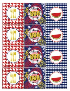 FREE Summer BBQ Printables by WCC Designs