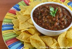 Simple Spicy Salsa: http://www.fortheloveofcooking.net/2013/09/simple-spicy-salsa.html