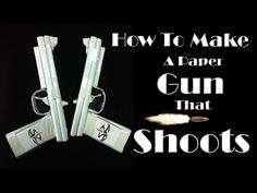 How to Make a Paper Gun That Shoots - ( Rubber Band Paper Gun with Trigger ) - YouTube