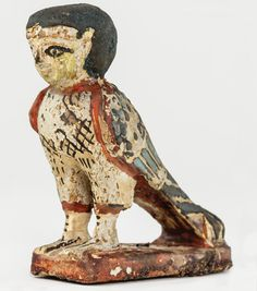 """""""Ancient Egyptians believed that we have different components to our being. The ba, our power to move, appears in iconography as a bird with a human head. When a person died, his or her ba lived on, leaving the tomb during the day and reuniting with the corpse in the netherworld at night."""""""