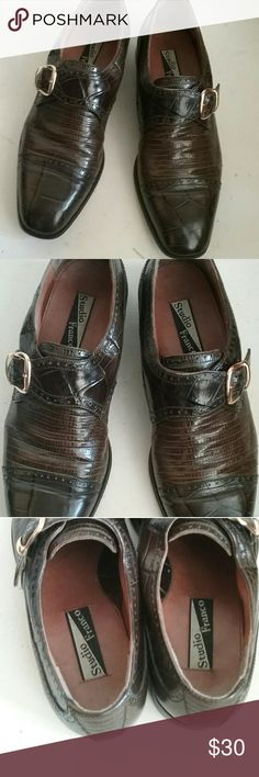 Studio Franco  Men's Dress Shoes  Size 11 Pre owned genuine leather dress shoes size 11 Men's  to tone  down they are in good condition. Studio Franco Shoes Loafers & Slip-Ons