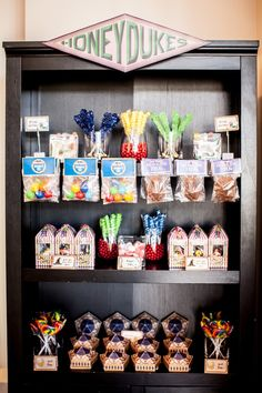 Harry Potter Birthday Party on Kara's Party Ideas | KarasPartyIdeas.com (63) (Diy Bar Party)