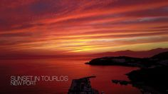 Unique sunset in Mykonos, Greece with atmospheric music (drone video HD from the island of winds!)
