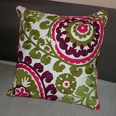 18 Square Country Embroidery Cotton Decorative Pillow Cover - USD $ 14.99