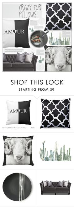 """""""★ ◊ B&W Pillows (8/9)"""" by paty ❤ liked on Polyvore featuring interior, interiors, interior design, home, home decor, interior decorating, Divine Designs, By Nord, KAROLINA and Sarah Cihat"""