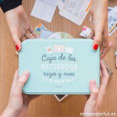 Caja metálica de los recuerdos tuyos y míos - Mr. Wonderful