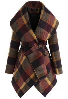 Prairie Check Rabato Coat by Chic+ - TOPS - Retro, Indie and Unique Fashion Winter Trench Coat, Trench Coats, Women's Coats, Unique Fashion, Fashion Women, Plaid Fashion, Winter Fashion, Coats For Women, Jackets For Women