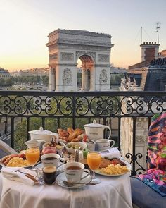 The city of Love . ✨Perfect breakfast 😍✨ 📷Photo by ✨ 🇫🇷Mark your photo with tag and… Breakfast In Bed, Perfect Breakfast, Breakfast In Paris, Romantic Breakfast, Petite France, France Photos, Paris Travel, Beautiful Places, Food And Drink