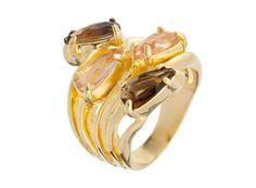 Ouro,ametista e quartzo rosa