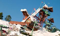 Summit Plummet at Disney's Blizzard Beach Water Park is a 120-foot high waterslide for big kids, teen and adults who are at least 48 inches tall. This incredible slide has a 12-story drop and speeds riders down the mountain at 50 to 60 MPH.