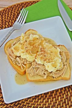 Slow Cooker Open-Face Turkey Sandwiches ~ The Kitchen Life of a Navy Wife