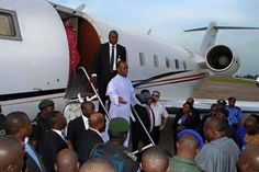 Welcome To Chitoo's Diary.: Photo: Father Mbaka arrives Enugu in a private jet...