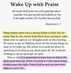 Wake Up with Praise. Amen...Mildred Williams