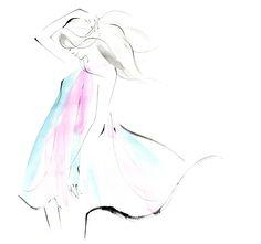 27.優しく素敵なイラストですね。 Fashion Illustration Sketches, Fashion Sketches, Art Sketches, Illustration Art, Love Drawings, Easy Drawings, Sketch Painting, Simple Art, Face Art