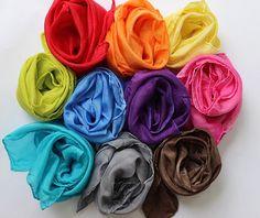 ten basic colors *new* #playsilk #waldorf #pretend #imagination #play