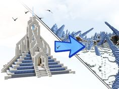 Ice Temple build by JERACRAFT