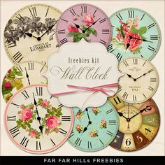 Far Far Hill: New Freebies Kit - Wall Clock