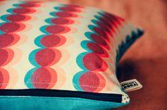 Circles - Screenprinted cushion by Kangan Arora  via Etsy.