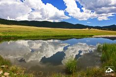 Reflection in Valles Caldera - New Mexico by isaac.borrego, via Flickr