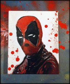 deadpool canvas by kriminalrx on DeviantArt Deadpool Painting, Deadpool Fan Art, Avengers Painting, Deadpool Quotes, Deadpool Tattoo, Deadpool Funny, Deadpool Movie, Marvel Wall Art, Marvel Comics Art