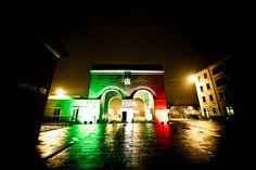 """Via Roma, Reggio Emilia - Installation """"Notte del Tricolore"""" - 150° Unità d'Italia - 2011"""