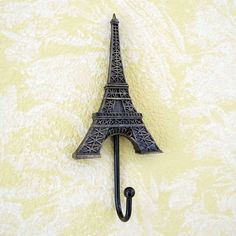 echomerx Eiffel Tower Paris Decor Vintage Style Wall Hook for Bedroom, Bathroom and Kitchen Paris Themed Bedroom Decor, Paris Room Decor, Parisian Bedroom, Paris Rooms, Bedroom Vintage, Bedroom Themes, Bedroom Ideas, Paris Themed Rooms, Paris Theme Bathroom