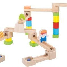 Toys for year olds Archives - Toys and Games Ireland Wooden Marble Run, Marble Tracks, 9 Year Olds, Fine Motor Skills, Wood Colors, Natural Wood, Ireland, Shapes, Running
