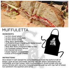 Try making @Chicago White Sox Chef Olegario's version of a muffuletta.