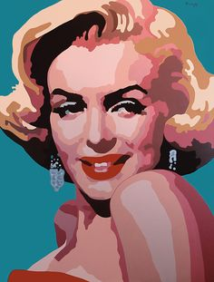Marilyn Monroe / Kreloff /acrylic on canvas