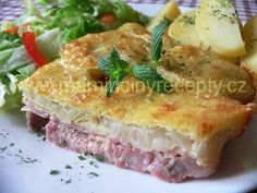Prezidentské maso Meat Recipes, Recipies, Snack Recipes, Cooking Recipes, Snacks, Czech Recipes, Quiche, Sandwiches, Pork