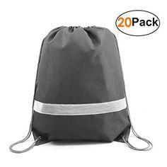 Reflective Drawstring Backpack Bags in Bulk Pack Cheap Sports Gym Sack Pack  Cinch Bag 90d3b353bcf5e