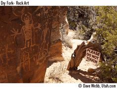Rock Art at McConkie ranch...trail open to the public...near (west) of Verna.