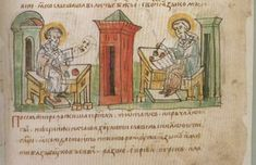 Radzivill Chronicle - 15th Century, an illustrated copy of a 13th century manuscript.
