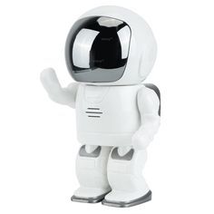 WISEUP WIFI27 IP camera has a distinctive robot like shape. It looks more like a child's toy than a camera. This makes it a perfect nanny cam – no one would suspect the robot figure hides a HD camera.  http://smarthomevalley.com/ip-cameras/wiseup-wifi27-ip-camera/
